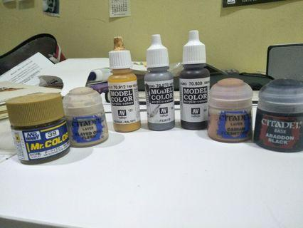 Plastic Model Paints—Citadel, Vallejo, and MR. COLOR for Gundam/Warhammer