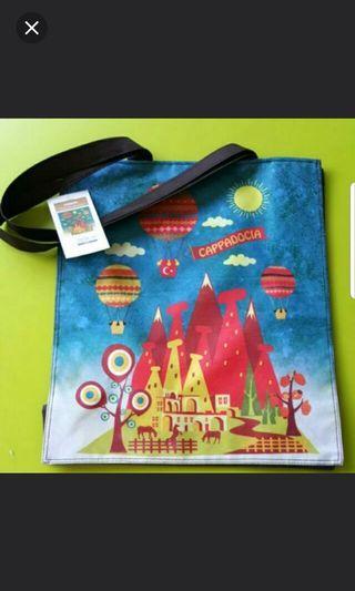 🚚 💟BNIB TURKEY CAPPADOCIA air balloons tote/shoulder shopping bag
