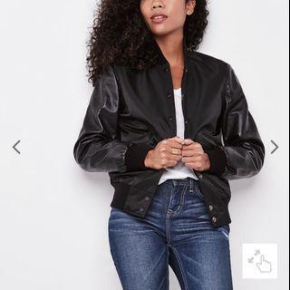 Leather Nylon Jacket