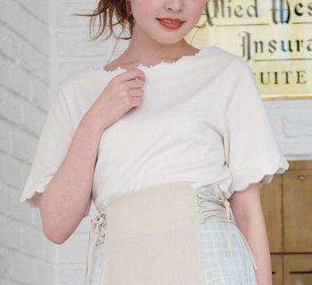 ✨HIT!必入~日本19春 majestic legon 珍珠波浪領口上衣 tee