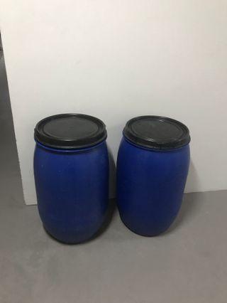 120L blue drum