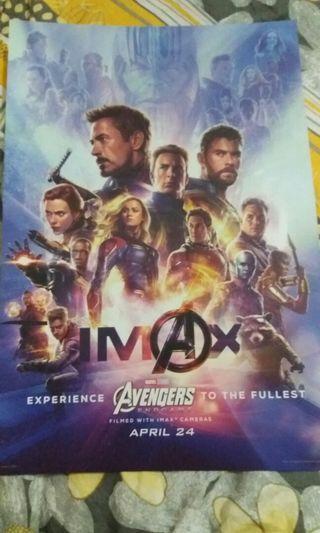 IMAX 特別版 Marvel Avengers 4 End game 海報 poster