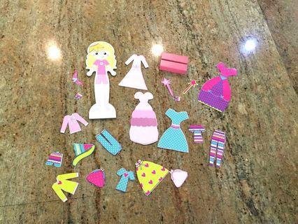🚚 ELC Magnetic Wooden Doll Dress-Up set