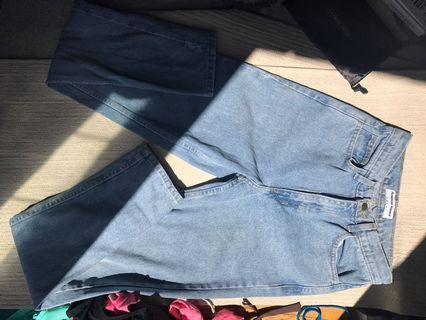 American Apparel High Waisted Denim Jeans