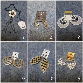 贈品 & 單賣區 耳環 項鍊