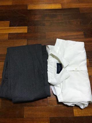 Combo formal short shirt plus grey pants