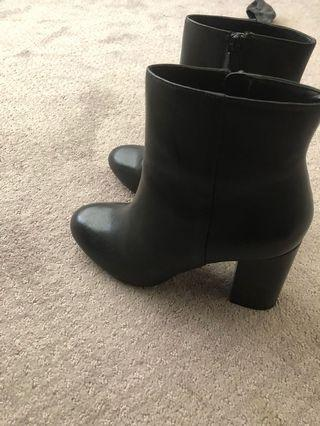 Leather heel boots from Aldo