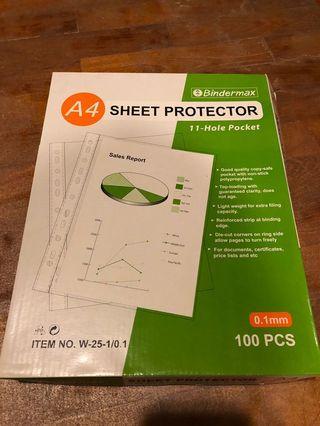 Bindermax A4 Sheet Protector (0.1mm)