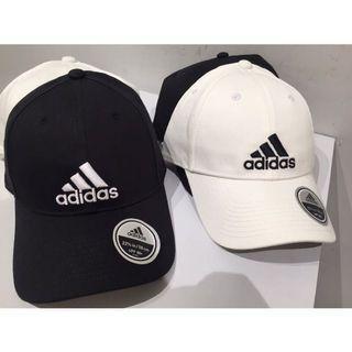 Adidas logo cap 白 黑 老帽 彎帽 休閒 遮陽 棉 百搭s98150 s98151