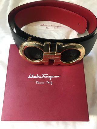 Authentic Salvatore Ferragamo Reversible Buckle belt