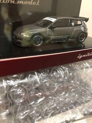 ignition model Tarmac 1/64 Honda Civic eg6灰加紅