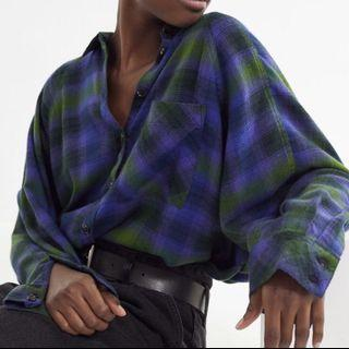 URBAN OUTFITTERS - Blue/Green Flannel