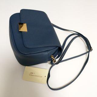 🚚 NET,藍色,側背包,全新
