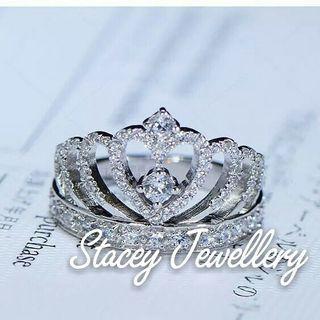 高碳鑽公主女戒指