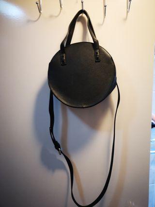 Black round shape bag