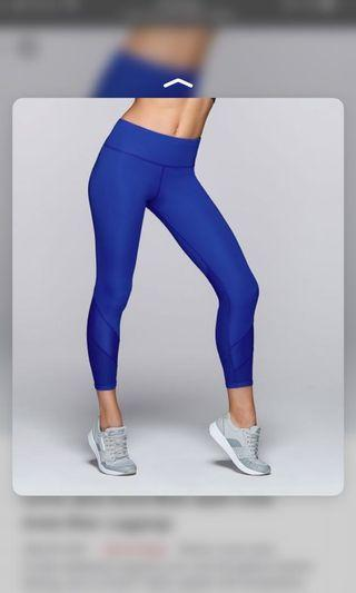 Lorna Jane AB Tights in Electric Blue