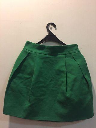 Shirt skirt green