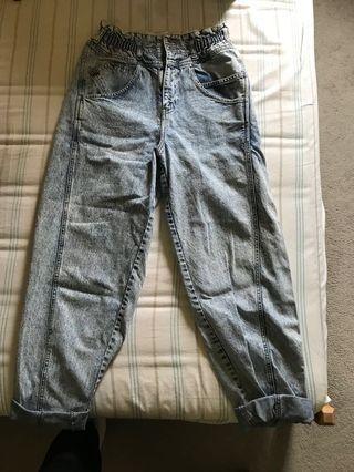 High Waisted Baggy Denim Jeans