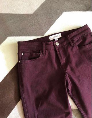 🚚 mango maroon jeans