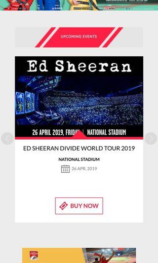 ED SHEERAN DIVIDE TICKETS