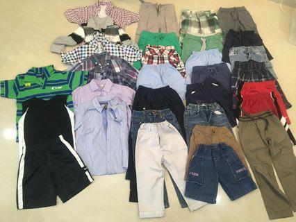 Assorted boy's clothings for 2 to 3 years— jeans, shorts, long sleeved and casual wear