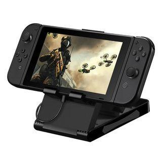 任天堂Switch可調式支架 可折疊攜帶支架 角度可調 同時充電 主機座(Switch主機支架)