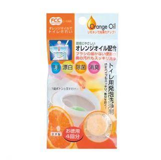 🚚 (一包4入)清潔錠 甘橘精油 馬桶 發泡 清潔錠 日本製