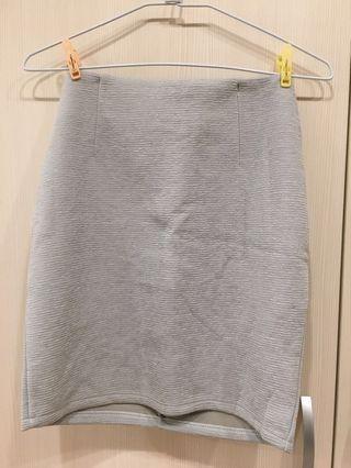窄裙 銀灰色 A字裙