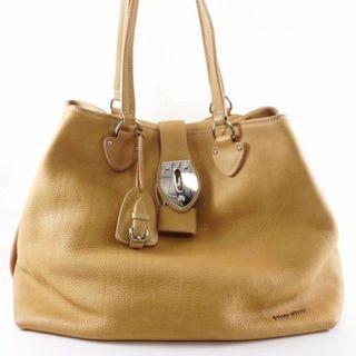 真Authentic Miu miu beige tote handbag 手袋 包包