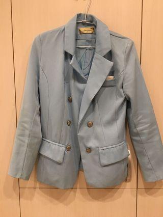 淺藍西裝外套 女西裝外套