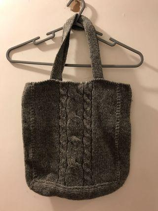 實用袋 grey 羊毛冷 tote bag wool 100%