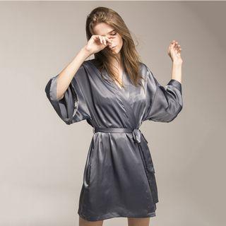 Silk Gray Kimono