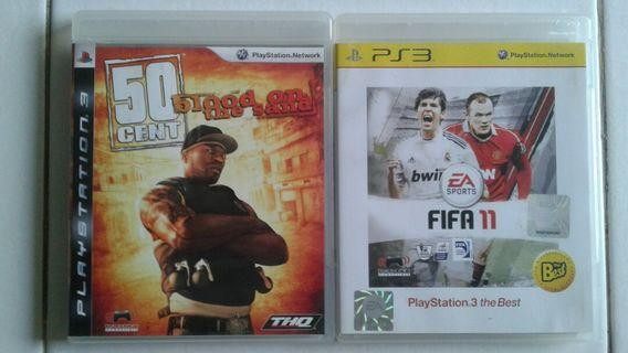 PS3 GAMES 2 for $8.00 - 50CENT;blood on the sand & FIFA 11