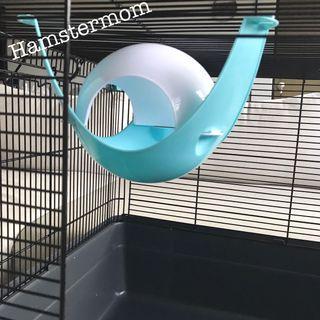 Blue Hamster Space Pod Sputnik Hammock Toy