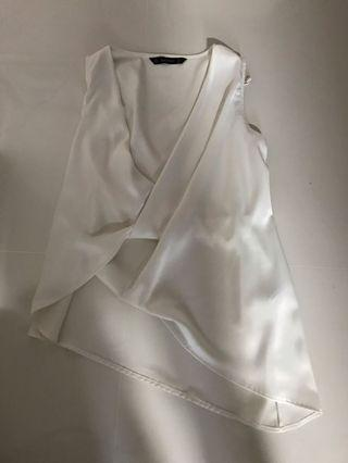 Zara elegant white top