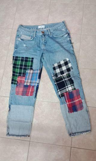 MNG Mango Patchwork Jeans