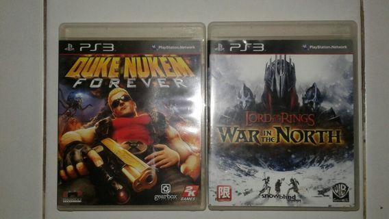 PS3 GAMES 2 For $8.00 - DUKE NUKEN FOREVER & THE LORD OF THE RINGS; WAR IN THE NORTH