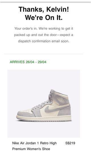 🚚 Air Jordan 1 Pale Ivory