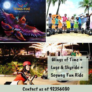 [COMBO] Wings of Time + Luge & Skyride + Segway Fun Ride