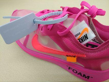 Off White Zoom Fly Pink US7.5 EUR40.5 THE TEN