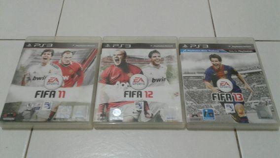PS3 GAMES 3 for $12.00 - FIFA 11,FIFA 12 & FIFA 13