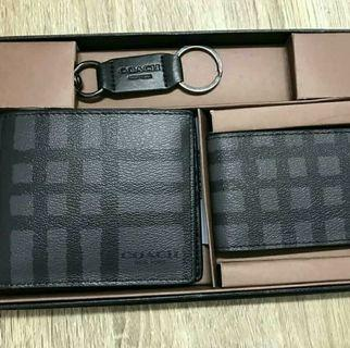 Coach men Wallet set