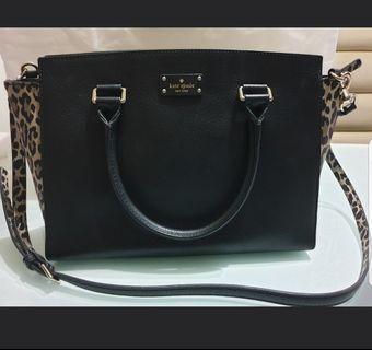 Kate Spade Black Bag with Leopard design on both sides