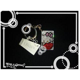 Hello Kitty 迷你八達通Bling Bling Swarovski施華洛水晶閃石匙扣