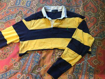 Vintage Ralph Lauren cropped long sleeve polo shirt