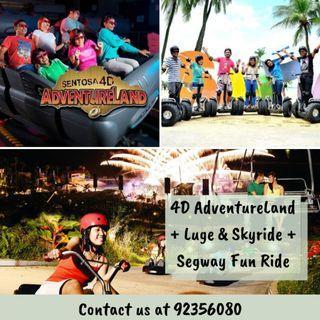 [COMBO] 4D AdventureLand + Luge & Skyride + Segway Fun Ride