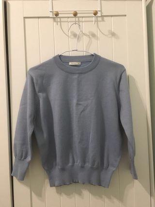 🚚 藍紫長袖針織上衣