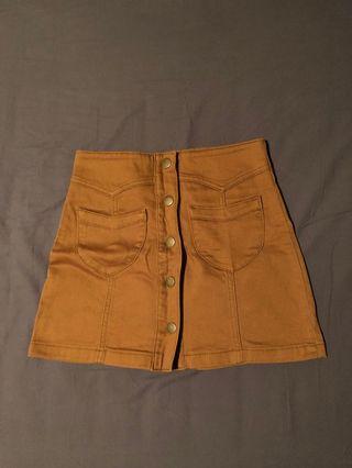 Forever 21 Button Skirt