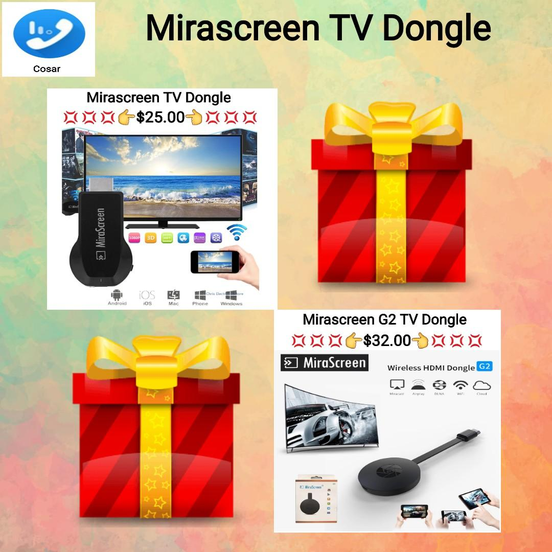 1080P HD MiraScreen WiFi Display Receiver TV Dongle DLNA Airplay Miracast HDMI Support Car Display For Smartphone Tablet PC