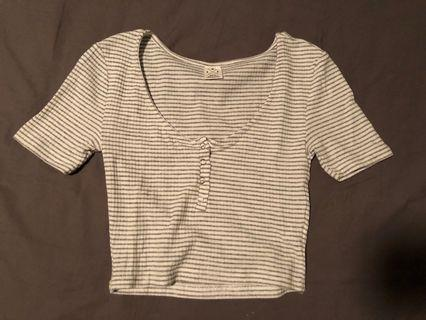 SWS Button Cropped Top